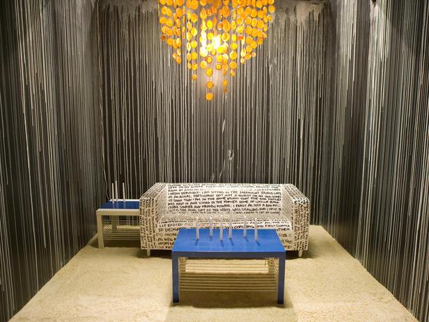 Dripping Paint Wall Design : Design salt orange capiz chandelier