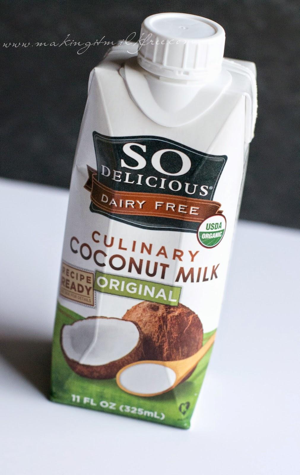 #dairyfree #glutenfree #sodelicious #coconutmilk