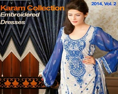 Karam Embroidered Summer Collection 2014