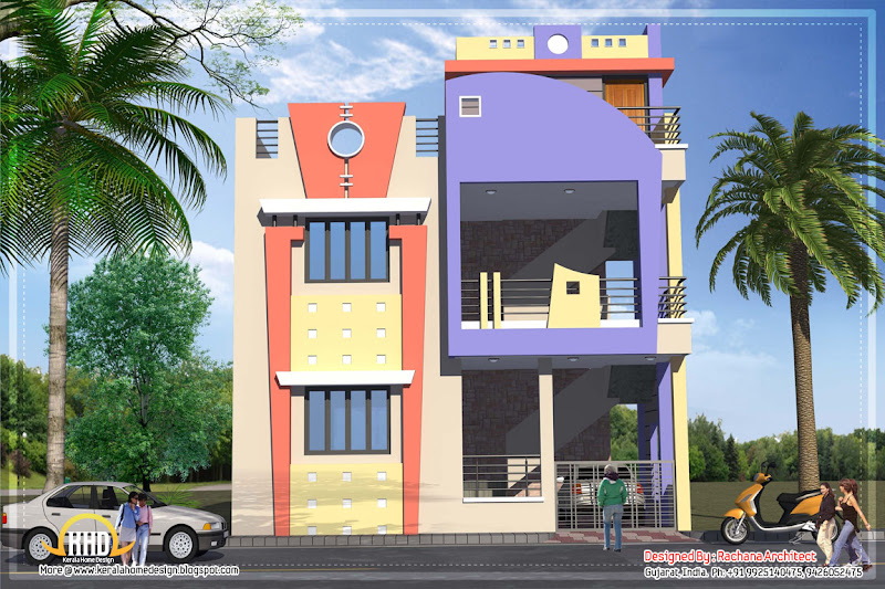 India house plan - 1582 Sq.Ft. - April 2012 title=