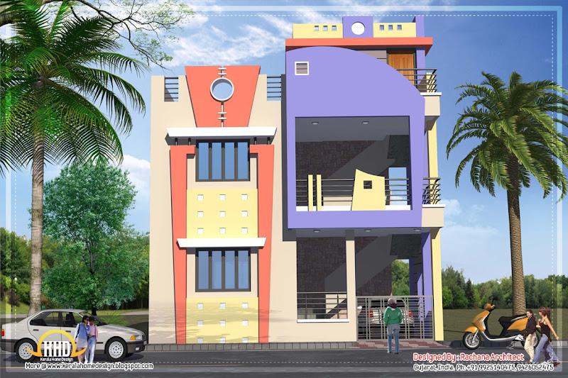 India house plan - 1582 Sq.Ft. - April 2012 title=