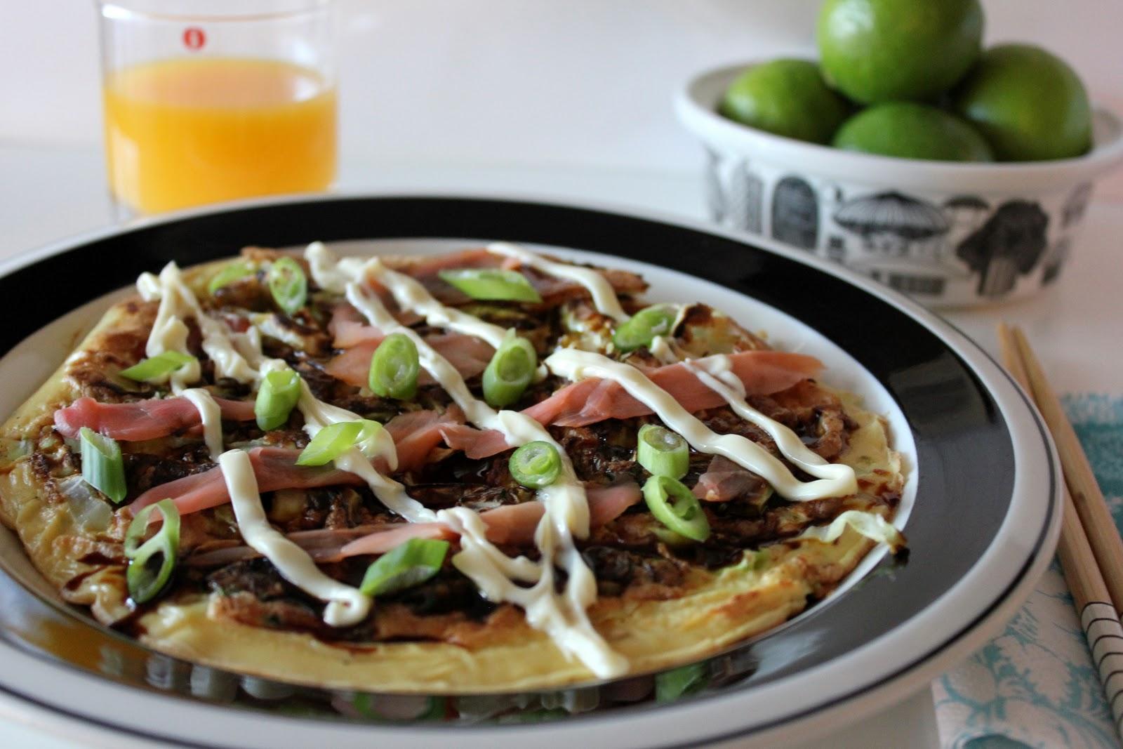 Okonomiyaki – Japanese savoury pancake » cake crumbs & beach sand