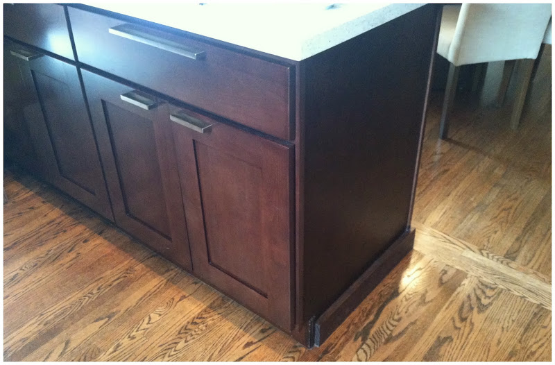Shaker-style cabinetry has clean straight lines, all 90 degree angles  title=