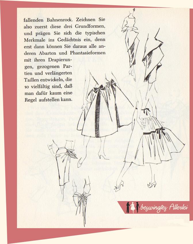 Wie zeichne ich Mode, Ingrid Osterloh, Getrödelt Gefunden Gefreut, Mode zeichnen, 50er Jahre