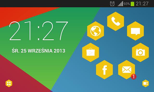 Hexagon Theme v1.2 apk download