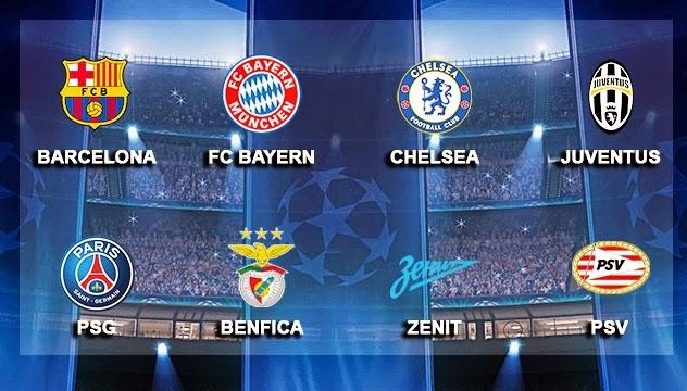 8 đội hạt giống Champions League 2015/16