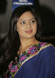 Nikesha Patel in Spicy Cute Saree looks Beautiful at Rambha Urvasi Menaka audio launch