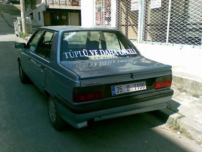 tüplü araba arkası yazısı