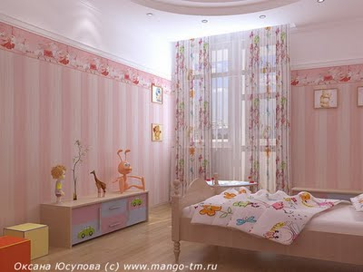 Decoraci n de interiores decoracion de paredes cuarto for Decoracion de interiores infantil