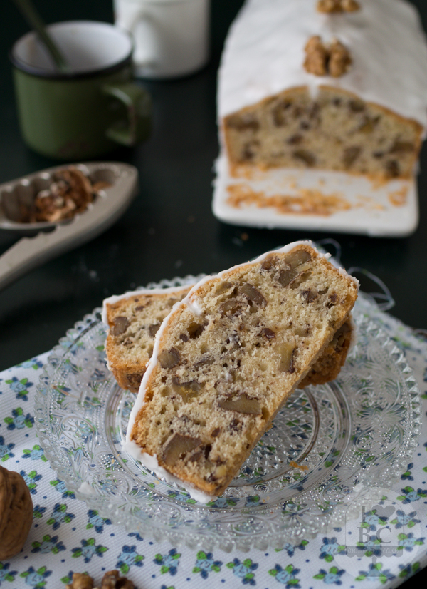 Loaf cake de nueces