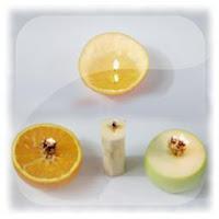 Experimentos para niños, magia, vela comestible y vela de naranja