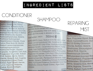 Yuko Kokoro G Treatment, Yuko Kokoro G Shampoo and Yuko Repair Through Ingredient list