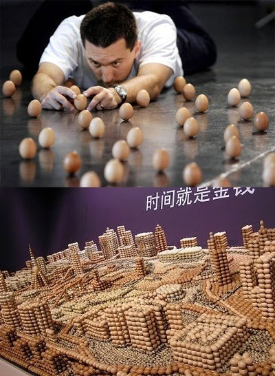 amazing news: building made of eggs