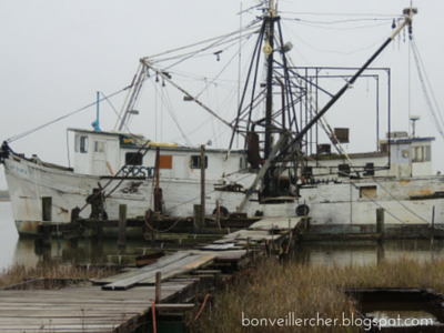A Shrimp Boat in Cameron -- Join us on our visit with an old shrimp boat and its owner from Cameron, Louisiana. | bonveillercher.blogspot.com