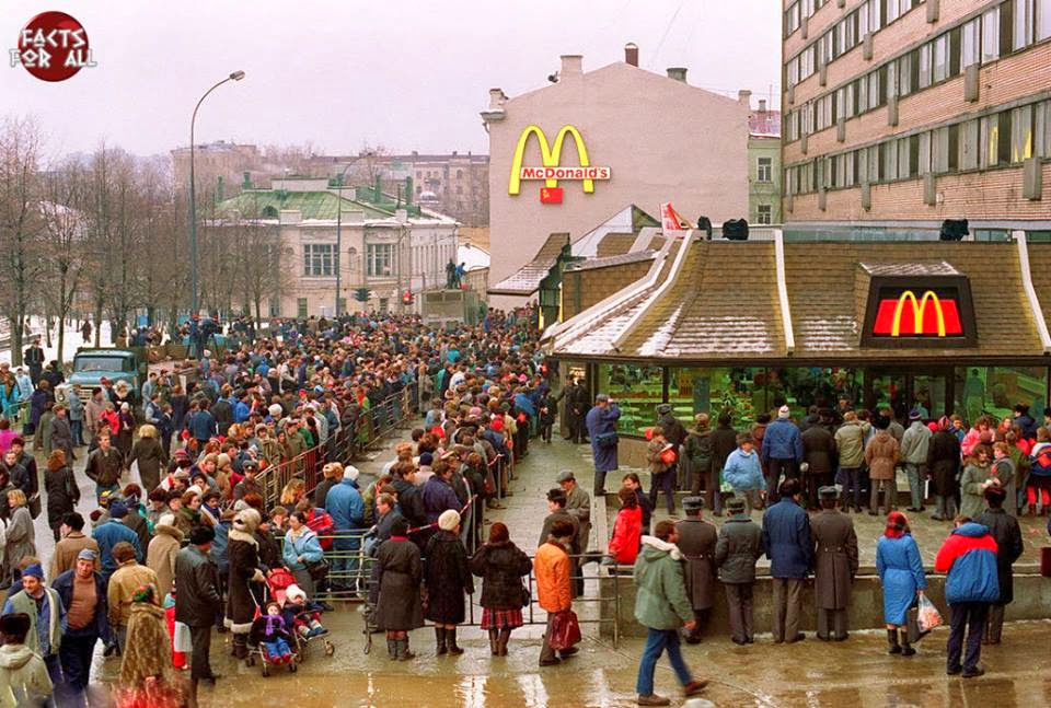 1'st mcDonald in moscow
