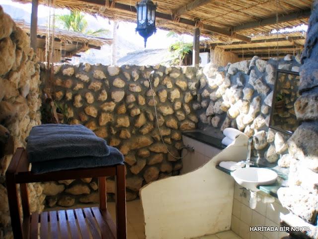 umman deniz kenarında bungalovlar açık banyo