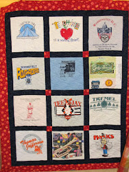 T-Shirt Quilts are fun! Contact Jean to set up a class for you and your friends!