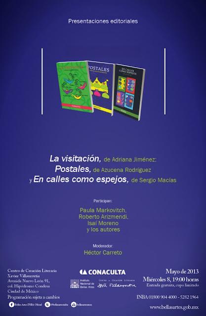 Múltiple presentación de libros en el Centro de Creación Literaria Xavier Villaurrutia