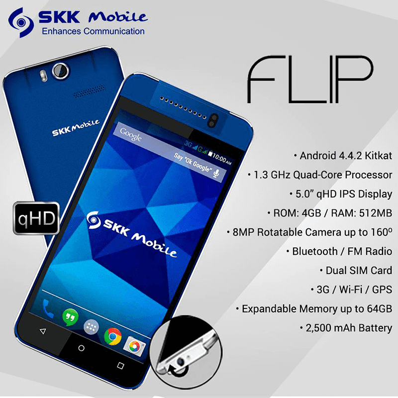SKK Flip Announced, Features An 8 MP Rotatable Camera Sensor!