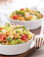 Salada com Linhaça e Quinua (vegana)