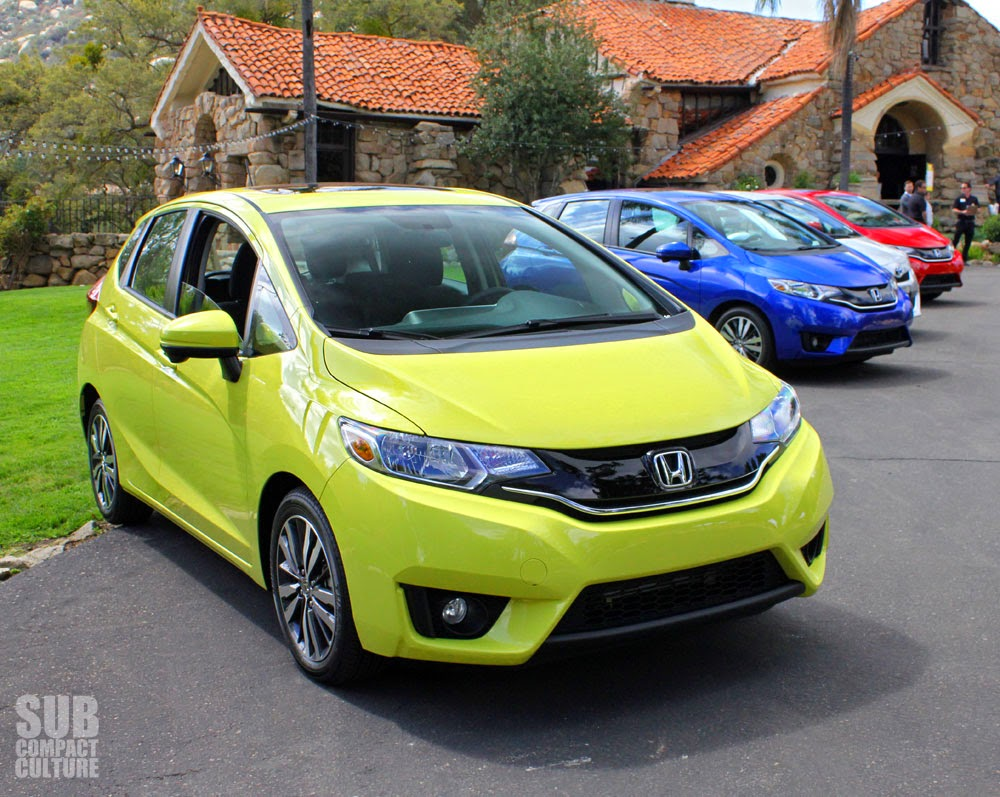 Yellow 2015 Honda Fit