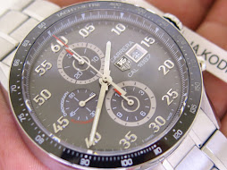 TAG HEUER CARRERA GREY DIAL CERAMIC BEZEL - AUTOMATIC CAL 1887
