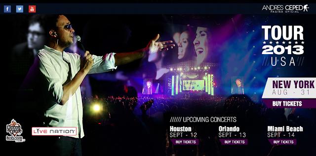 Andrés Cepeda llega a Estados Unidos con gira 'Lo Mejor que hay en mi vida 2013'