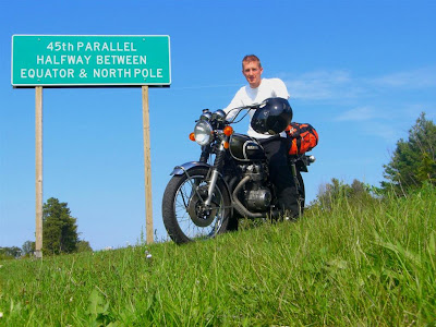 45th parallel, traverse city, michigan, bike trip