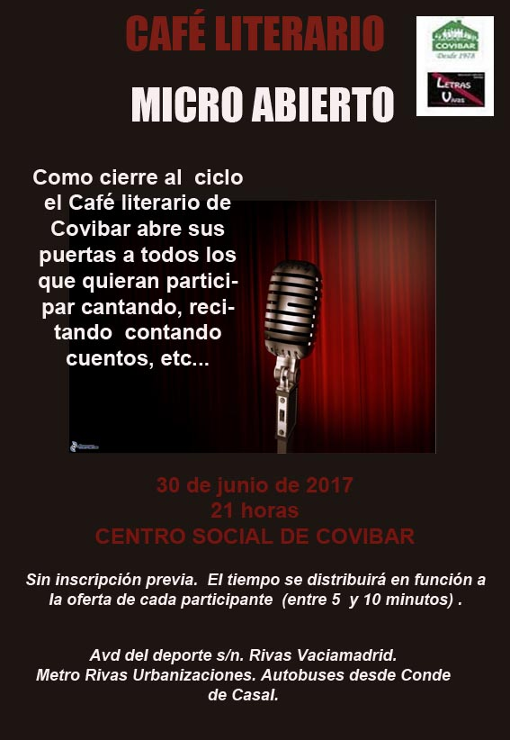 Café literario de junio.