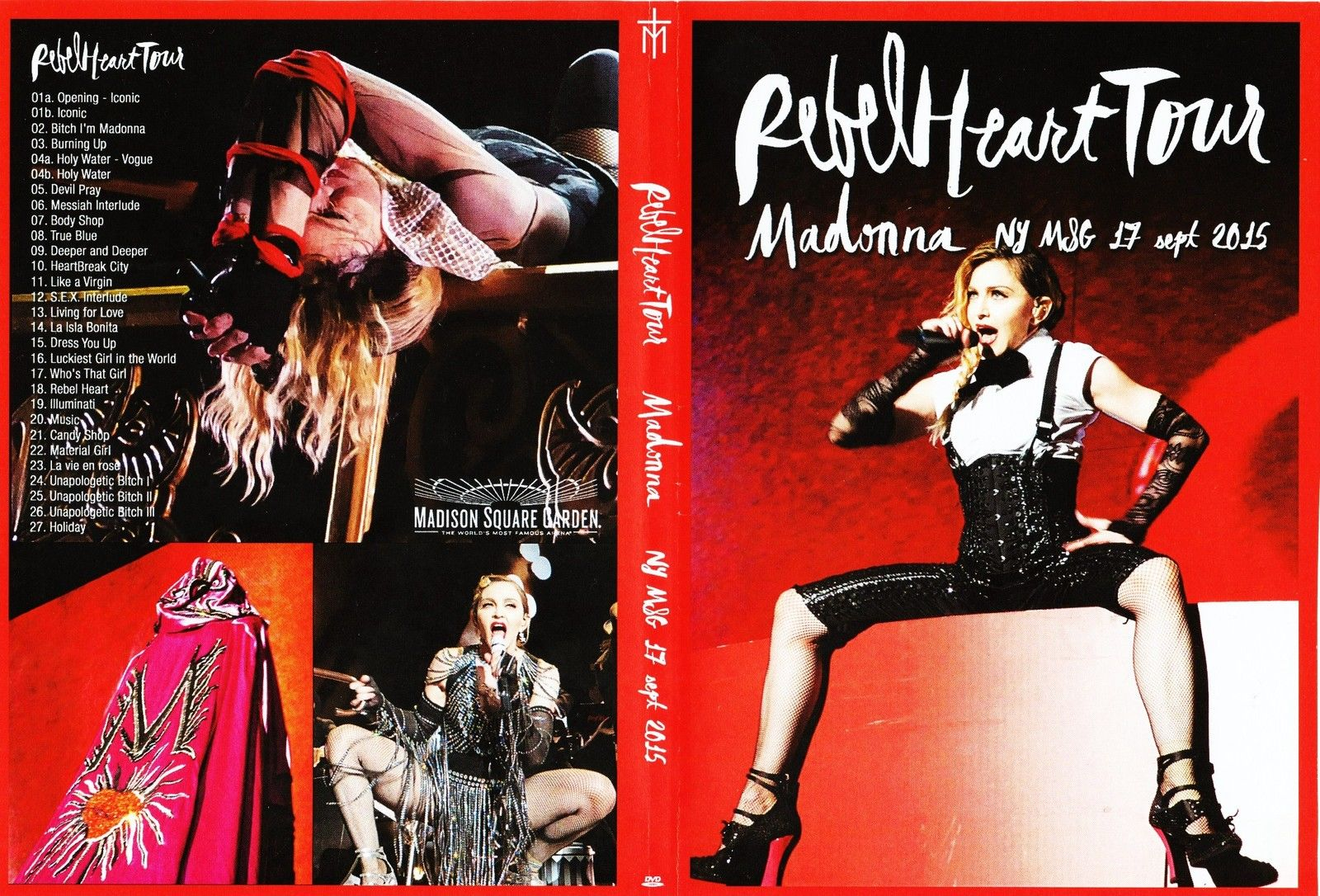 Madonna Rebel Heart Tour Dvd Cover