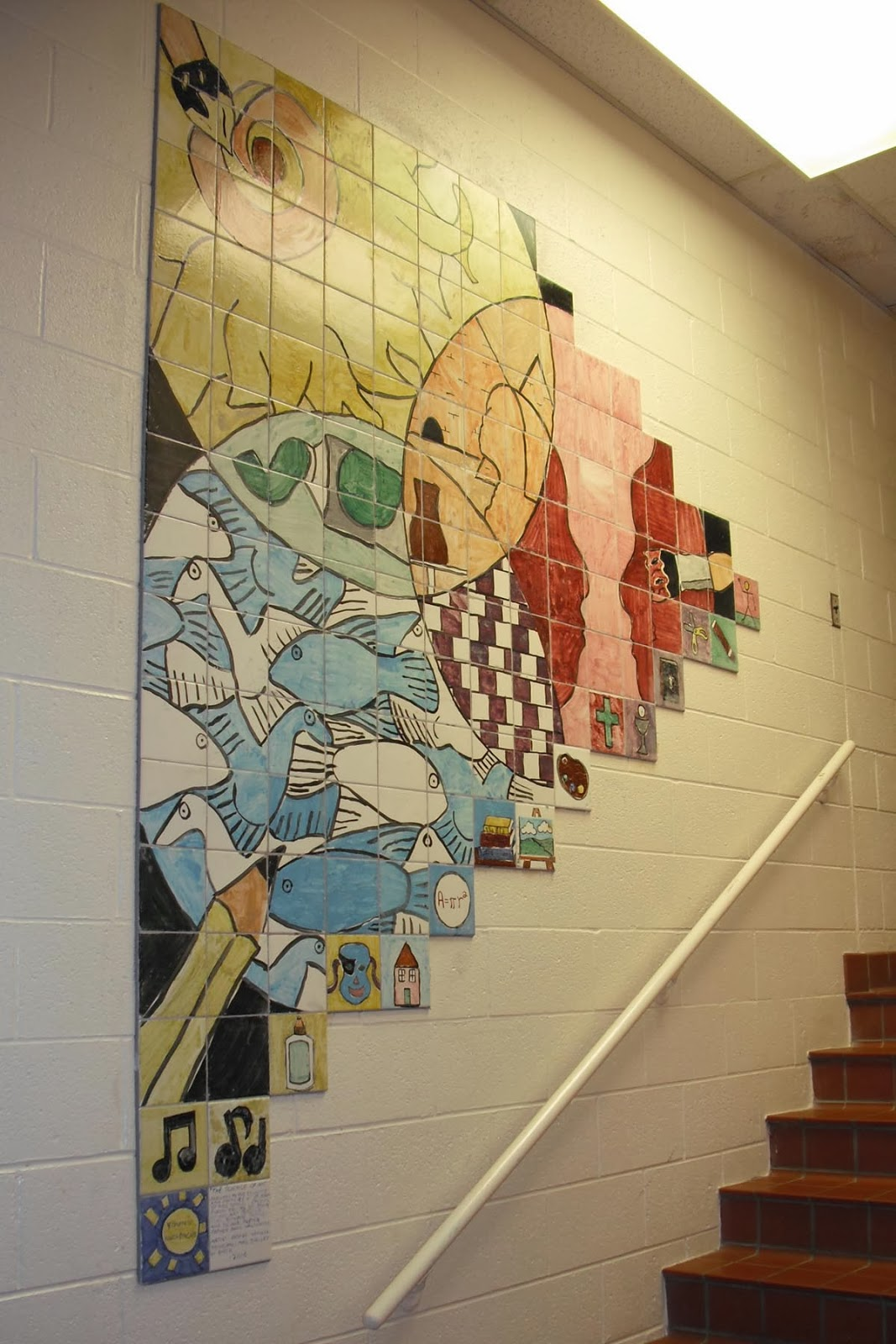 Ceramic tile murals and mosaics bring lasting beauty and relevant the art of science the science of art dailygadgetfo Gallery