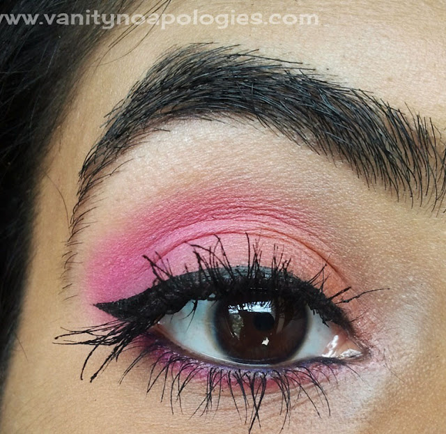 orange pink eye makeup
