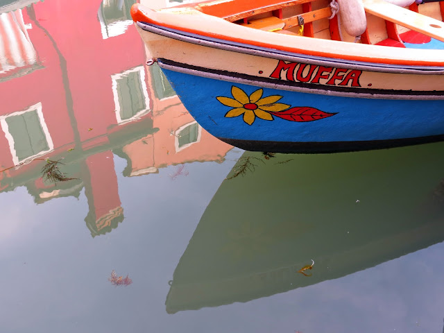 Burano canal boat