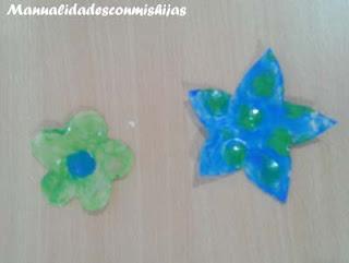 Manualidades infantiles: Pintadas flores con esmaltes de uñas