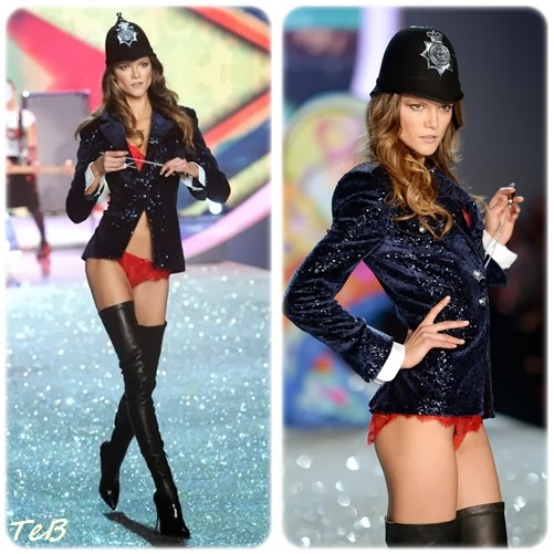 Sexy officer Kasia struss walking the famous glittery runway