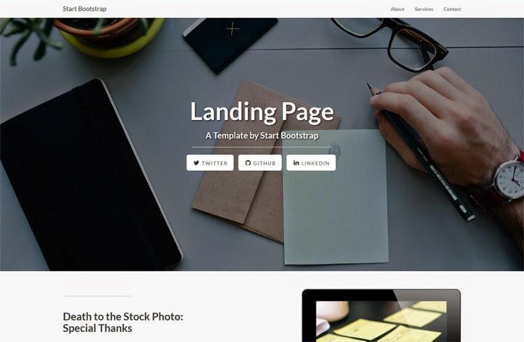 Landing Page - Free Bootstrap Theme