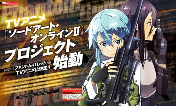 Segunda temporada de Sword Art Online se estrenará en julio
