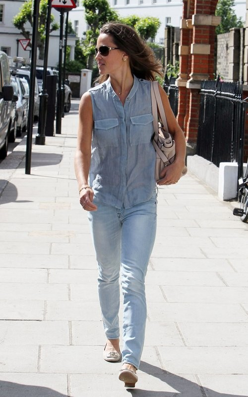 pippa middleton thigh. Pippa Middleton: Denim Dame