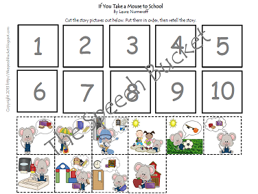 Printables If You Take A Mouse To School Worksheets the speech bucket what happens when you take a mouse to school pages 5 8 targets story comprehension and identifying types of questions being asked where who how first