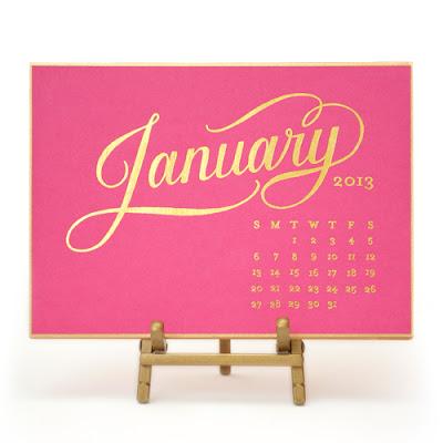 Kate desk calendar