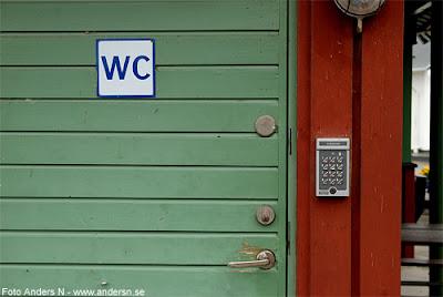 toalett, wc, dass, låst, med lås, kodlås, kod, foto anders n
