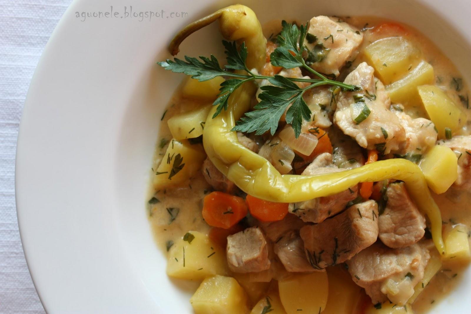 Отварная свинина с овощами рецепт