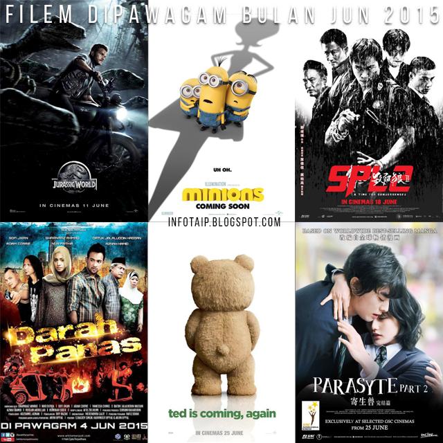 Filem Terbaru di Pawagam Bulan Jun 2015