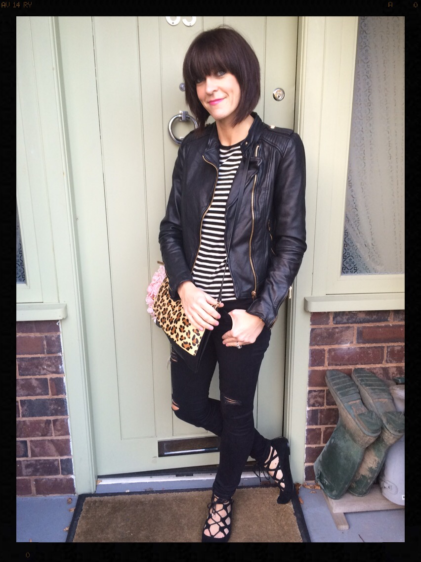 My Midlife Fashion, Stripes, Breton, Animal Print, Leopard Print, Skinny Jeans, Zara, Office Shoes, Mango, Skinny Jeans, Distressed Denim