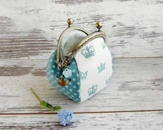 кошелек из ткани, coin purse turquoise
