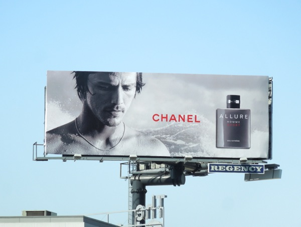 Danny Fuller Chanel Allure Homme fragrance billboard