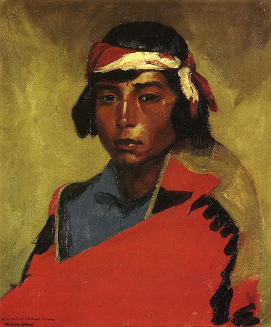 1916 Young Buck of the Tesuque Pueblo