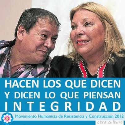 """Hector """"Toty"""" Flores y Elisa """"Lilita"""" Carrio: Líderes del MR-2012"""