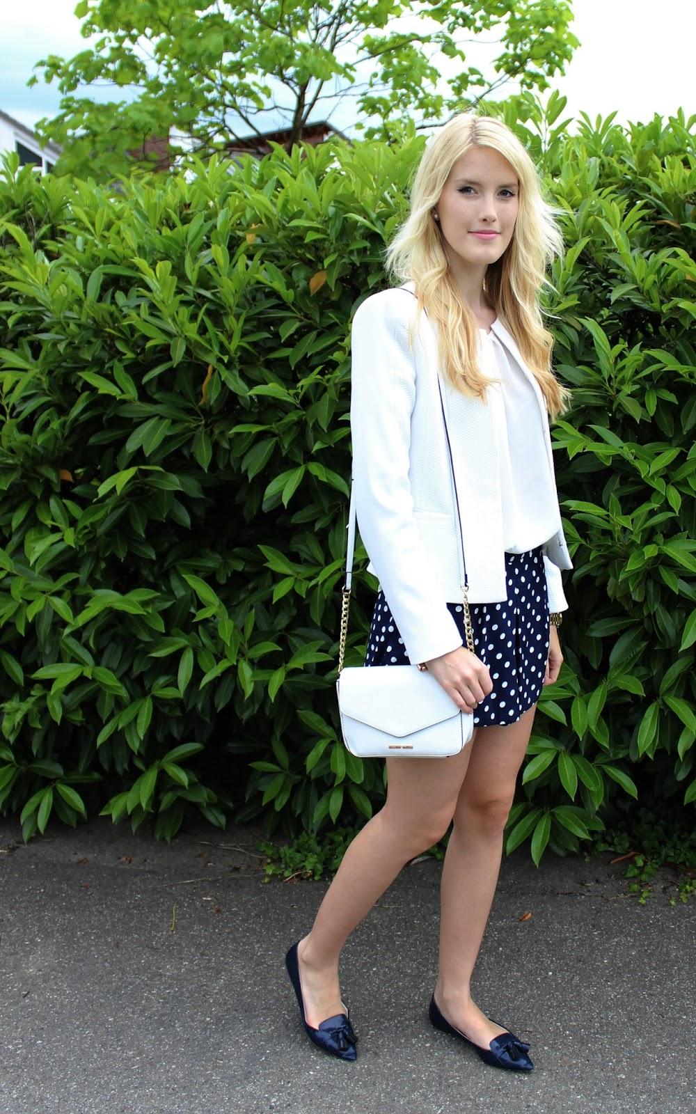 Polka dot shorts loose vjstyle outfit TheBlondeLion summer maritim Pünktchen