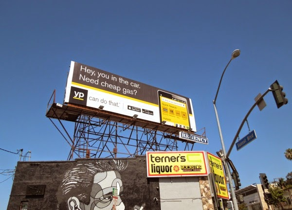 need cheap gas YP billboard